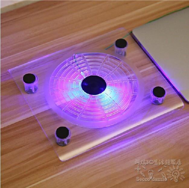【特惠】炫彩發光靜音電腦筆電散熱器OU590—行運時代