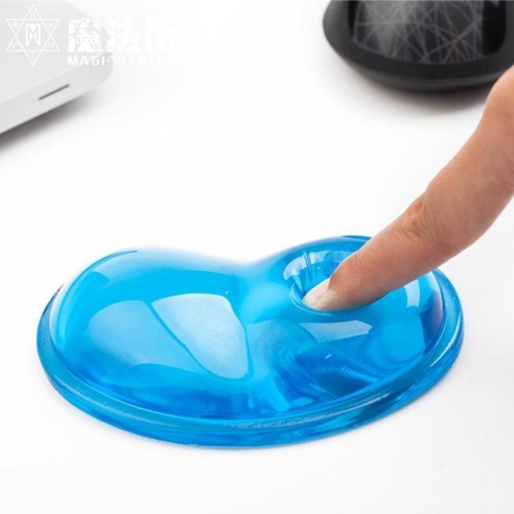 【特惠】心形鼠標墊護腕創意可愛女生超大硅膠卡通辦公游戲手托碗枕膠加厚電腦3d立體墊—行運時代