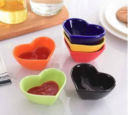 原點居家創意 陶瓷心型小碟 醬料碟 小菜碟 多色任選