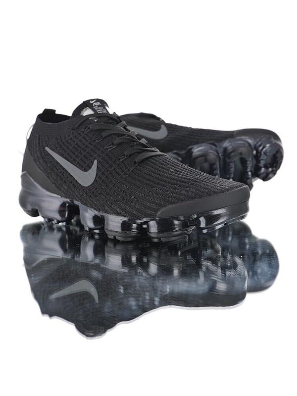 "official photos c50c5 7d306 Nike Air VaporMax Flyknit 3.0""Triple Black""三代大氣墊慢跑鞋""黑魂隕石鉆粉底"""