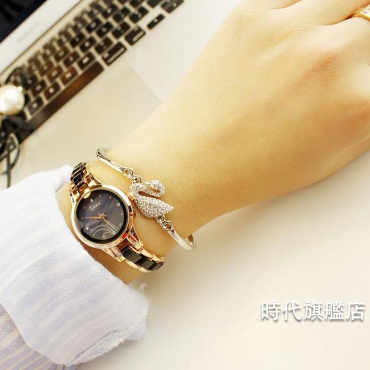 手錶女手錶女學生正韓簡約休閒大氣時尚潮流復古手鍊錶女士防水石英女錶