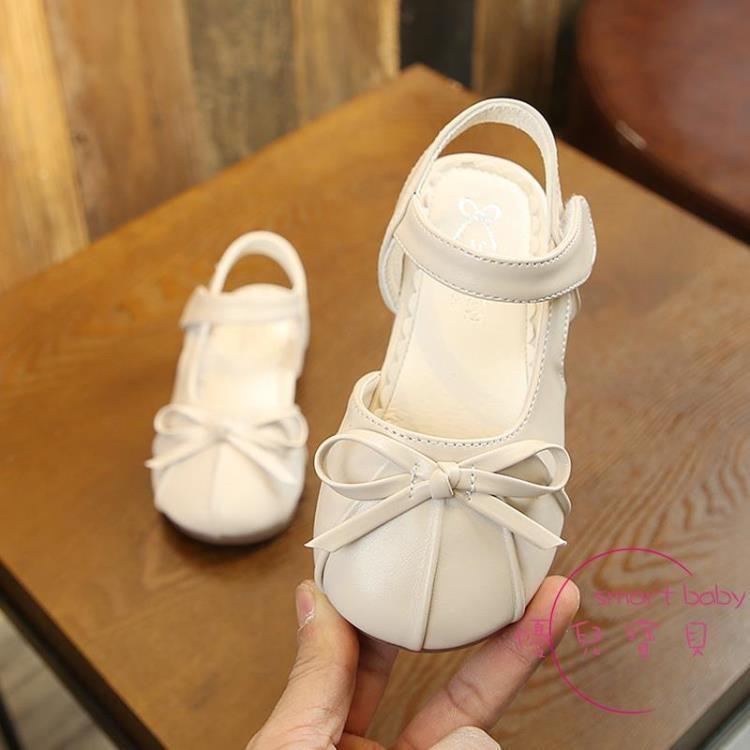兒童涼鞋 女童涼鞋新品包頭寶寶軟底夏季皮涼鞋中小童兒童公主鞋女童鞋