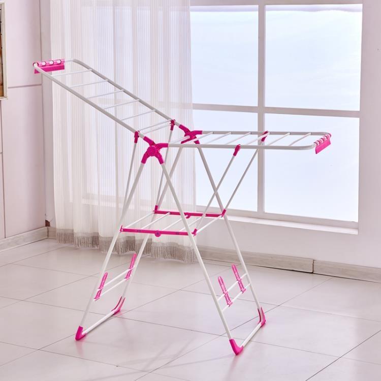 晾衣架落地折疊涼衣服室內陽台簡易曬架掛被子嬰兒尿布曬架子