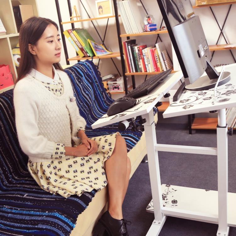 站立式家用移動懶人台式電腦桌 床上電腦桌床邊筆電桌