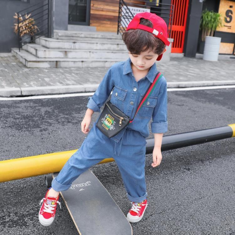 童裝男童春裝新品套裝春秋兒童牛仔兩件套帥寶寶男孩正韓潮衣