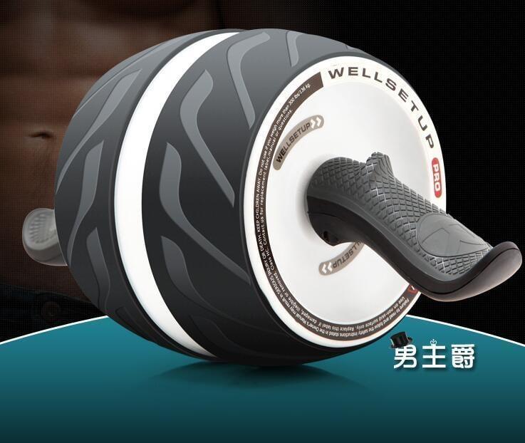 健腹器健腹輪腹肌輪巨輪彈簧靜音健腹輪家用腹部回彈健身輪男女通用