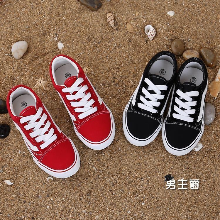 兒童帆布鞋春款大童兒童鞋男童10男孩小學生白色布鞋12休閒帆布板鞋15歲正韓