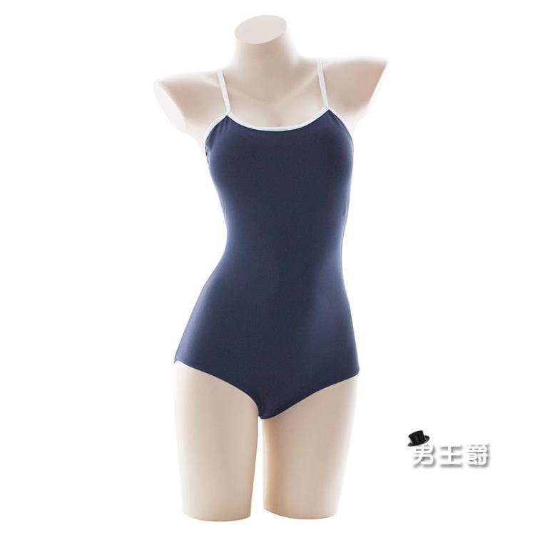 泳衣日本學校學生吊帶緊身死庫水露背泳衣女性感泡溫泉連體游泳衣泳裝