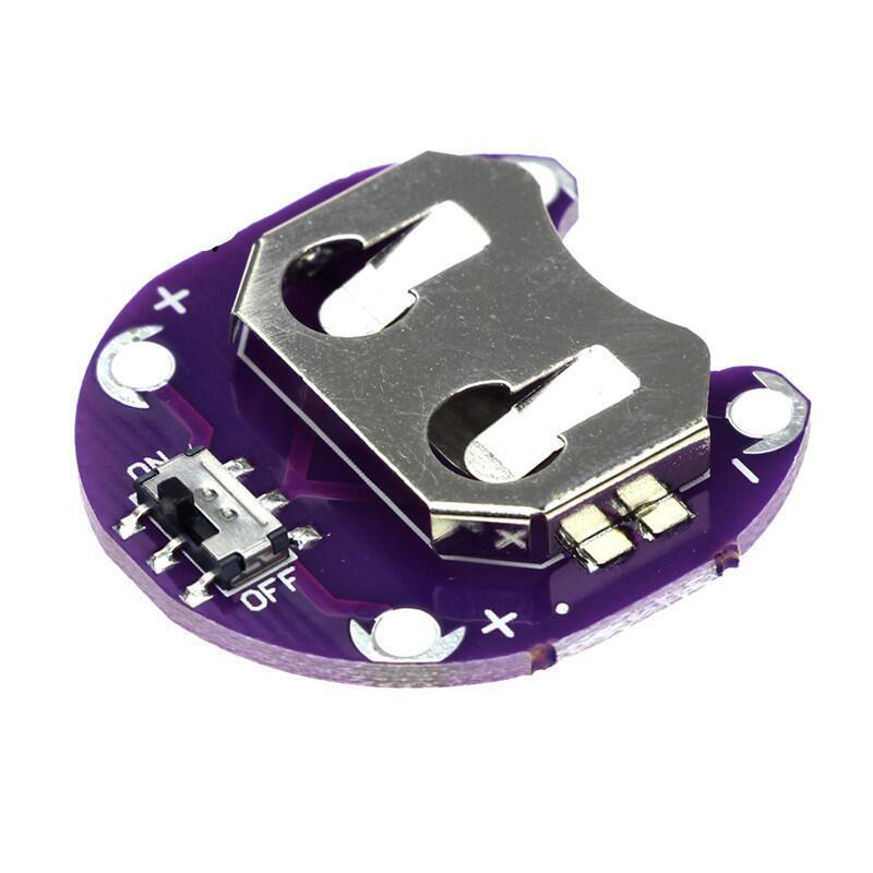 LilyPad Coin Cell Battery CR2032開關電池座模塊適用a duino