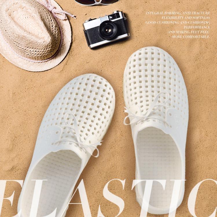 免運洞洞鞋男夏包頭半拖鞋女休閒防滑沙灘鞋EVA軟底白鞋涼鞋戶外秋   星隕閣