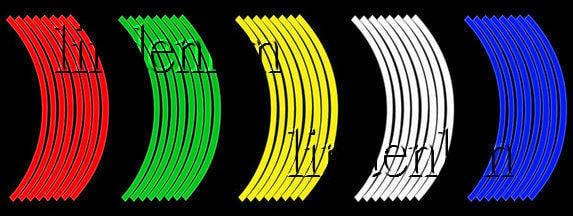 反光輪框貼紙10 12 13 14 16 17 18 吋RACING勁戰GTR雷霆CUXI野狼KTR雲豹T1酷龍T2