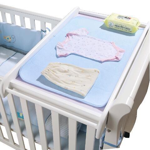 便攜實木尿布台多功能換尿布台嬰兒護理台寶寶嬰兒洗澡整理台 WY--藍品優品