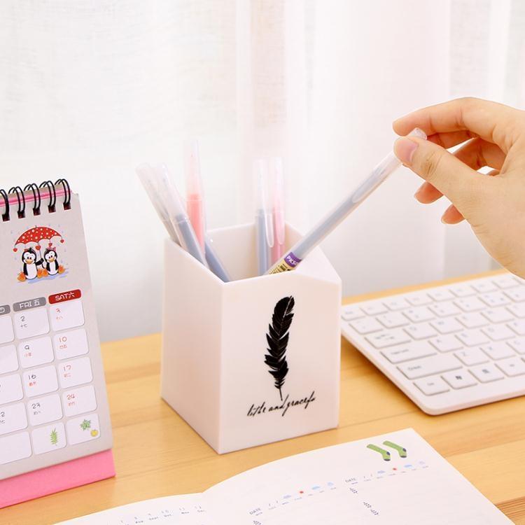 創意時尚簡約多功能韓國可愛方形桌面收納學生辦公筆筒  免運 可開發票 【易購生活館】