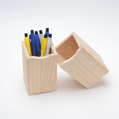 實木筆筒創意時尚學生方形辦公室筆筒木質文具簡約可愛桌面收納盒  免運 可開發票 【易購生活館】