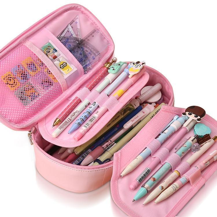小學生筆袋韓國簡約女生大容量文具盒兒童小清新可愛創意鉛筆盒女  免運 可開發票 【易購生活館】