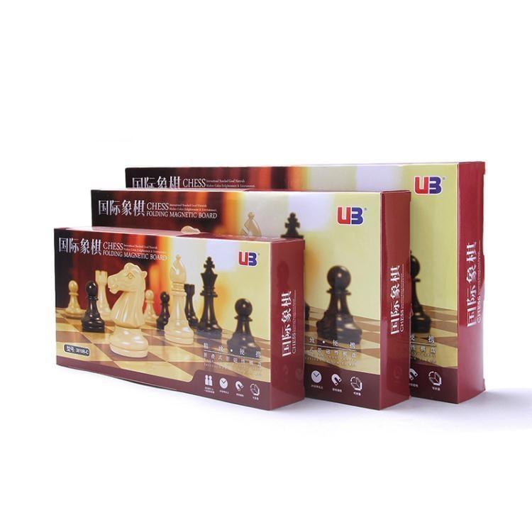 國際象棋中號磁性黑白金銀棋子摺疊棋盤套裝培訓比賽用棋  免運 可開發票 【易購生活館】