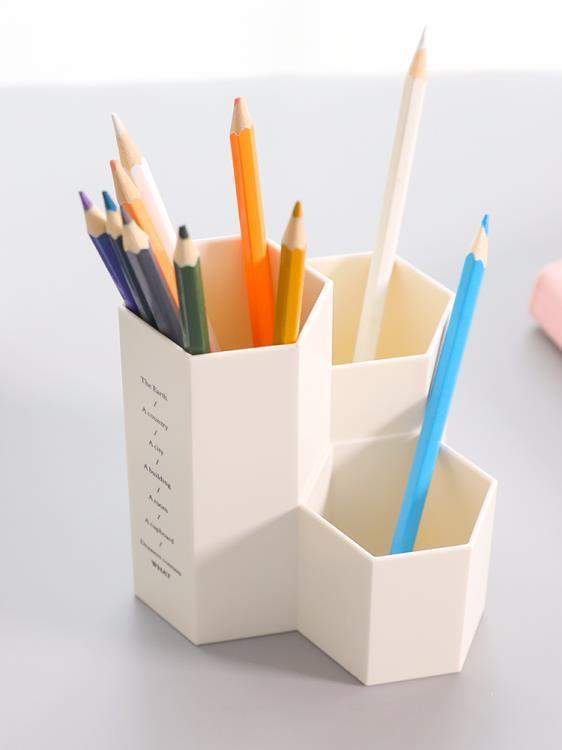 簡約個性多功能筆筒創意時尚 小清新學生辦公桌面收納盒  免運 可開發票 【易購生活館】