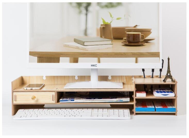 免運 可開發票 電腦顯示器增高架子支底座屏辦公室用品桌面收納盒鍵盤整理置物架YYP 「新百匯」xb