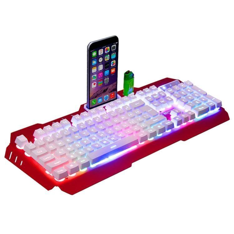 機械手感有線鍵盤台式電腦筆記本曼巴狂蛇家用游戲吃雞  免運 可開發票 【易購生活館】