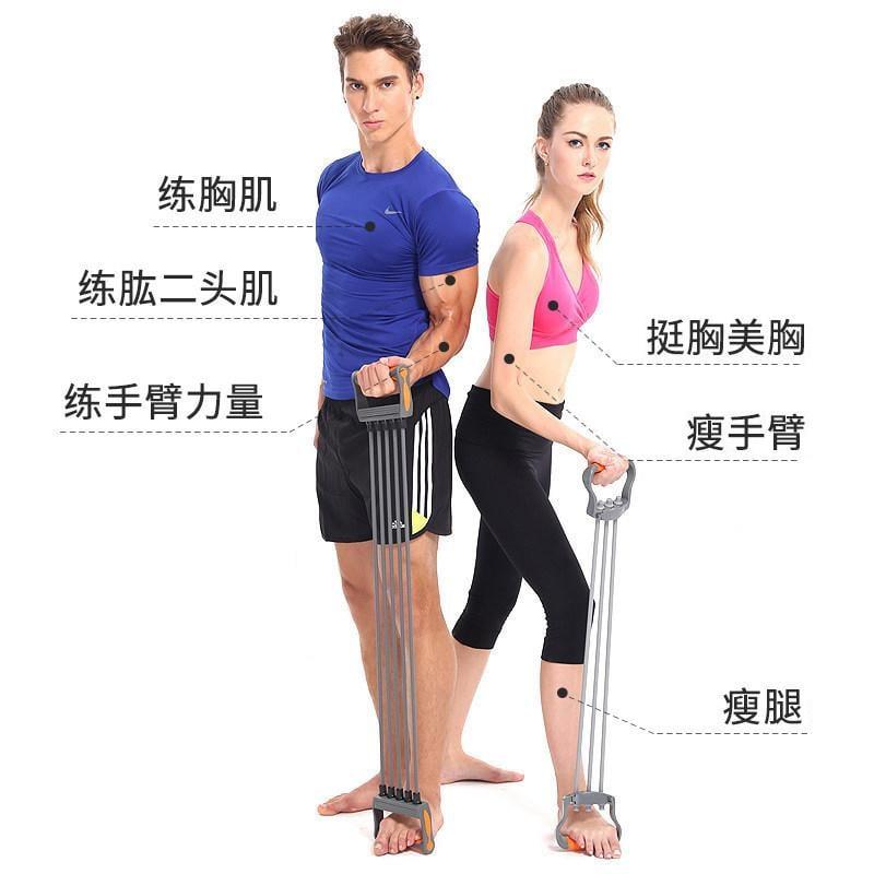 拉力器擴胸器健身器材家用男多功能女士臂力器拉力繩胸肌訓練套裝  免運 可開發票 【易購生活館】