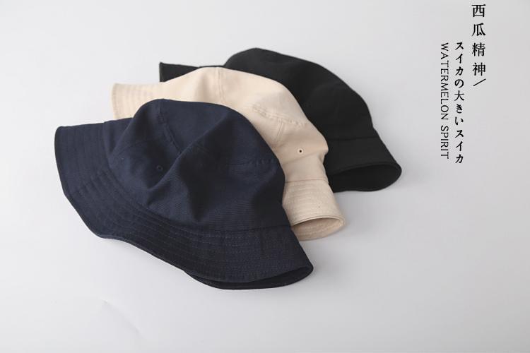 漁夫帽 日本客供不易沾水帆布漁夫帽 超軟男女基礎款盆帽夏  免運 可開發票 【易購生活館】