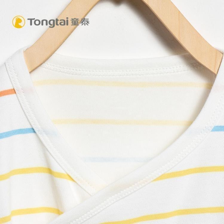 棉新生兒衣服嬰兒長袖包屁衣1-18個月男女寶寶條紋爬服哈衣  免運 可開發票 【易購生活館】