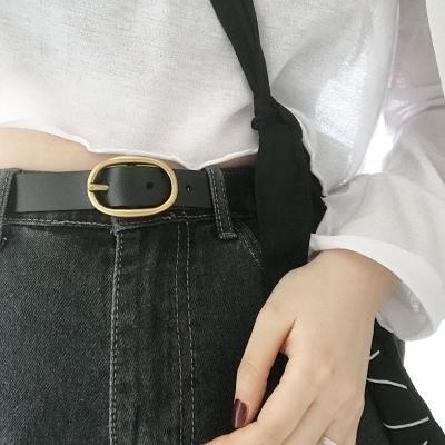 免運 可開發票 女生皮帶   純復古針扣女士皮帶韓版簡約百搭褲帶休閒時尚裝飾寬腰帶 「新百匯」xb