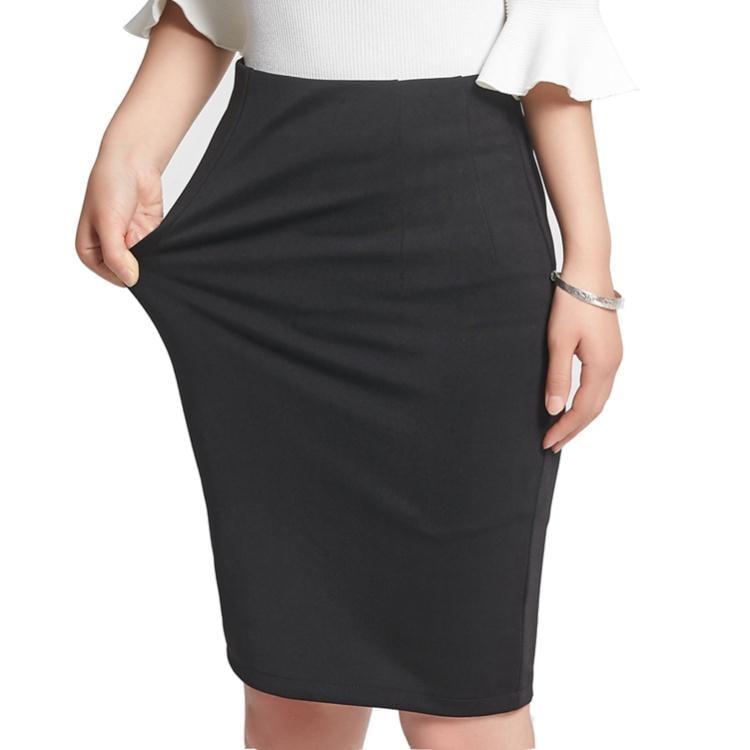 窄裙 短裙 職業中長款 高腰包臀修身半身裙  免運 可開發票 【易購生活館】