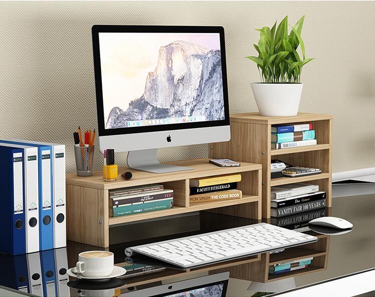 免運 可開發票 電腦顯示器增高架屏幕墊高抽屜式臺式電腦架桌面電腦置物架子YYP 「新百匯」xb