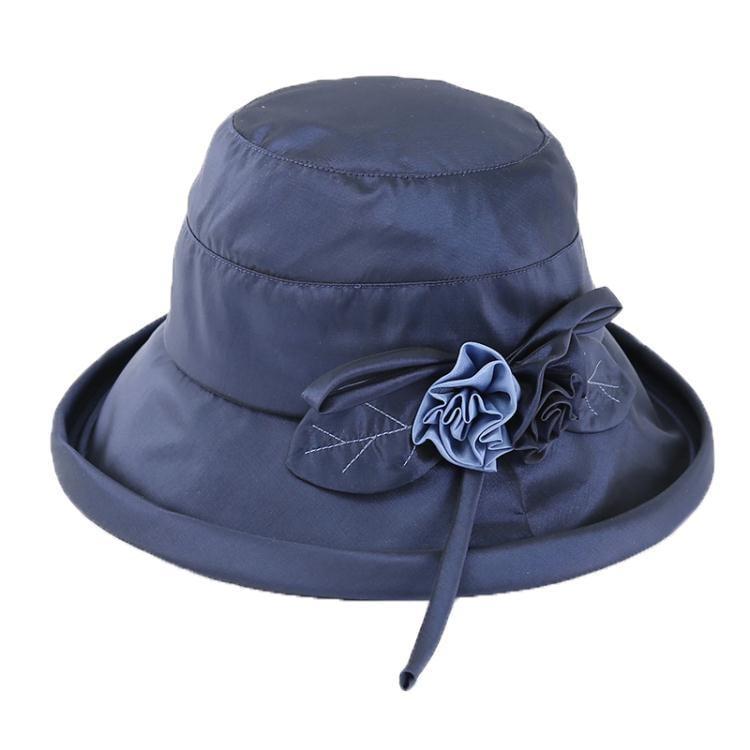 帽子毛帽女夏天韓版潮可摺疊遮陽帽防紫外線防曬太陽帽布帽花涼帽  免運 可開發票 【易購生活館】