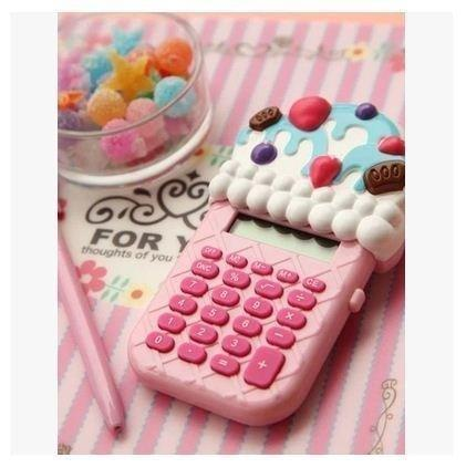 創意文具華夫冰淇淋袖珍迷你口袋計算器蛋糕計算機