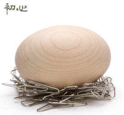 初心 超可愛鳥巢收納!! 熱賣楓木磁吸迴紋針收納整理 送一包迴紋針!