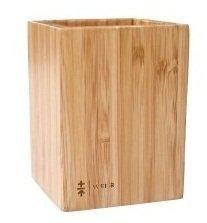 舒適就好 方口筆筒多功能筆筒桌面收納辦公用品多功能木製文具