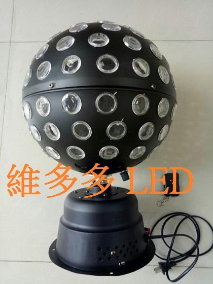 LED 旋轉舞台燈 LED旋轉水晶燈 全金屬LED水晶魔球燈