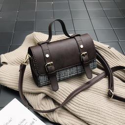 【SG】潮韓版時尚格子斜挎手提小包 斜背包 側肩包 單肩包 手提包 箱型包