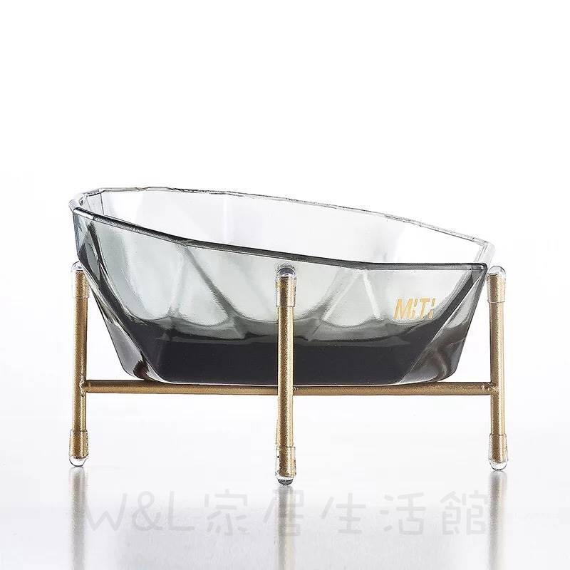 高質感✨水晶材質寵物碗增高架