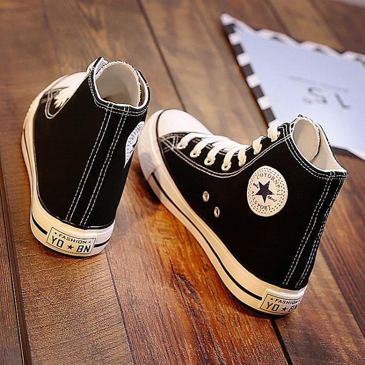 帆布鞋 高筒帆布鞋女鞋韓版百搭布鞋原宿ulzzang潮學生板鞋【小吖頭-實惠特價】