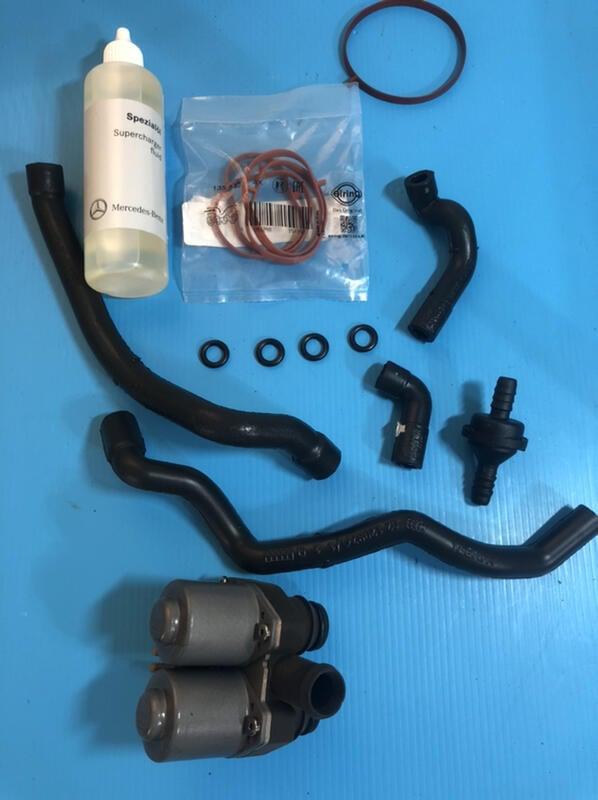 專業雙B零件專賣店賣場 BENZ 廢氣管組 M271 機械增壓油 熱水閥 W210 R170 進氣歧管墊片