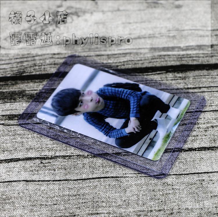 特制小號側插硬卡夾 EXO 專輯小卡 少女時代 硬卡套 YES卡 硬咭套