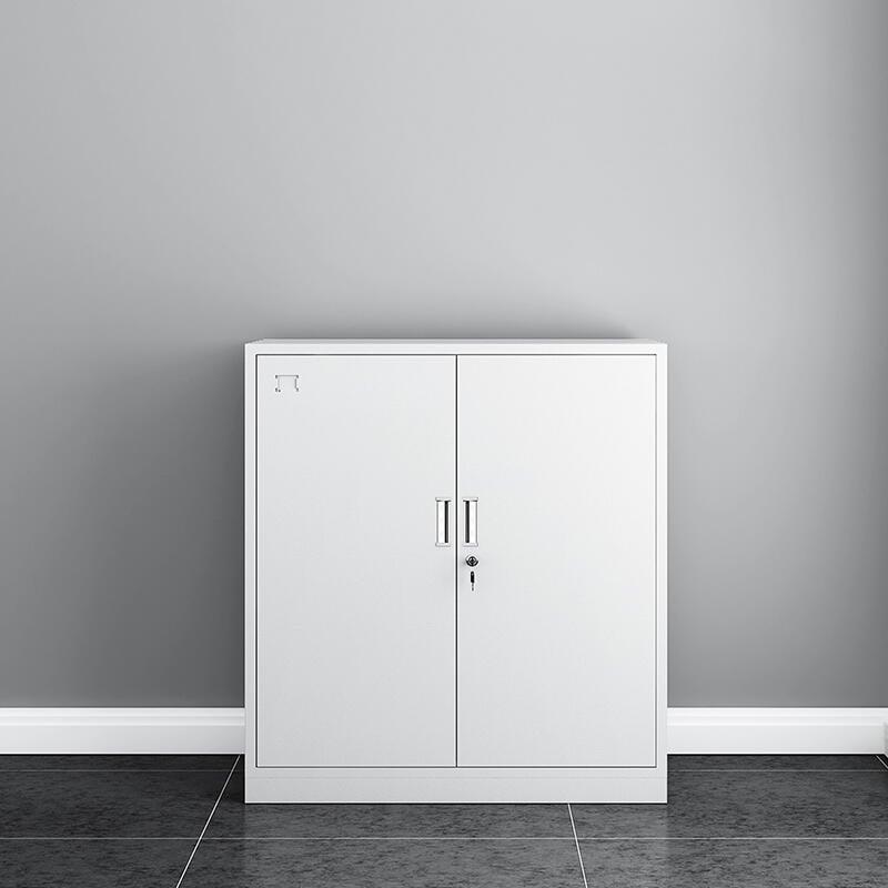 矮柜文件柜辦公室資料柜鐵皮柜帶鎖儲物柜財務檔案柜收納柜小柜子