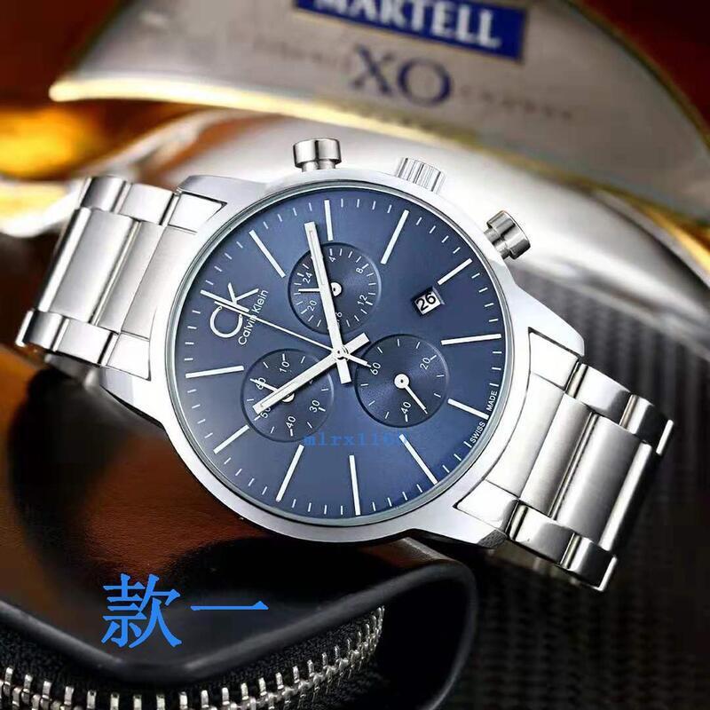 Calvin Klein CK手錶 男錶 CITY系列時尚多功能三眼計時夜光日曆石英男士腕錶K2G2714N