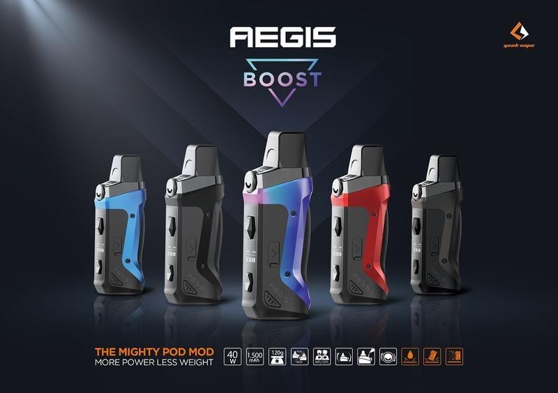 【霧人蒸氣】原裝正品 Geekvape Aegis Boost Pod Mod 40W 小神盾 三防 填充式 主機 小煙
