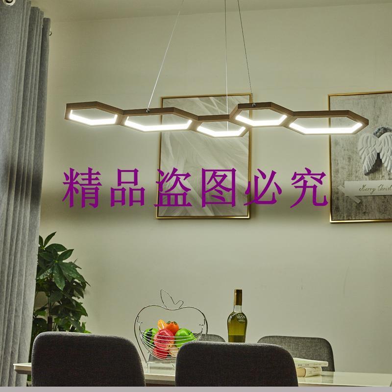 北歐創意餐廳實木藝LED吊燈日式客廳吧臺吊燈簡約現代臥室吊燈具
