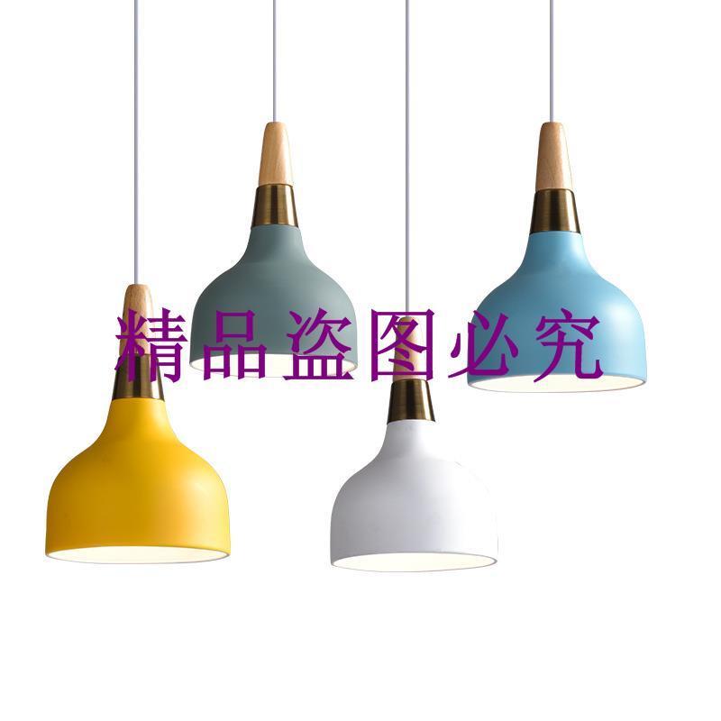 現代簡約LED餐廳馬卡龍吊燈創意時尚飯廳酒吧辦公室吊燈燈具