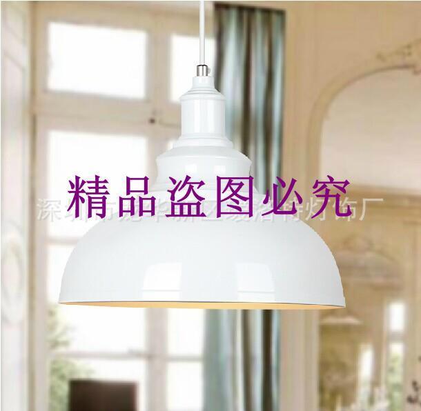 復古鐵藝吊燈單頭燈具批發 創意餐廳咖啡廳酒吧樓梯工業吊燈銅色