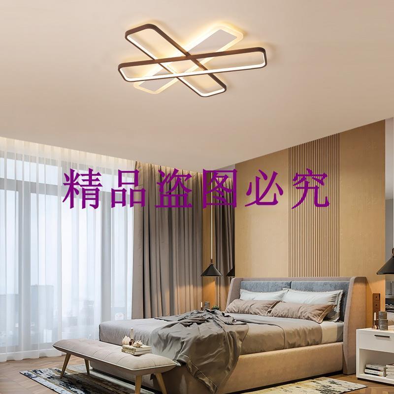 簡約現代北歐多條長方形吸頂燈 led臥室走廊過道亞克力led吸頂燈
