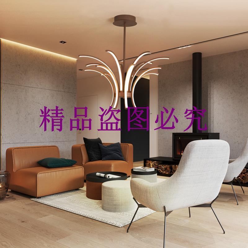 北歐創意異形led吊燈 一件代發鋁材客廳餐廳吊燈簡約現代時尚吊燈