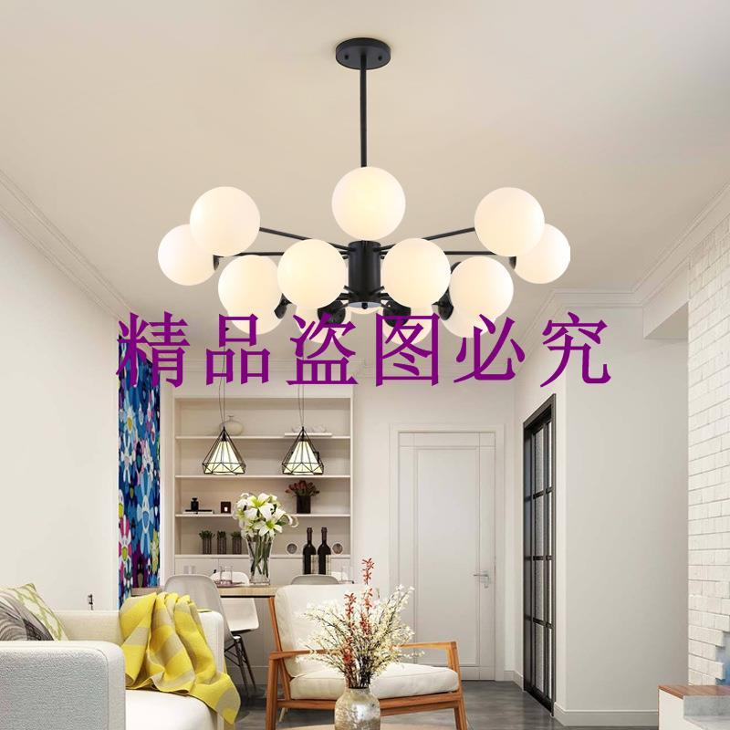 中山古鎮燈飾批發北歐創意個性客廳餐廳燈具臥室吊燈魔豆吊燈