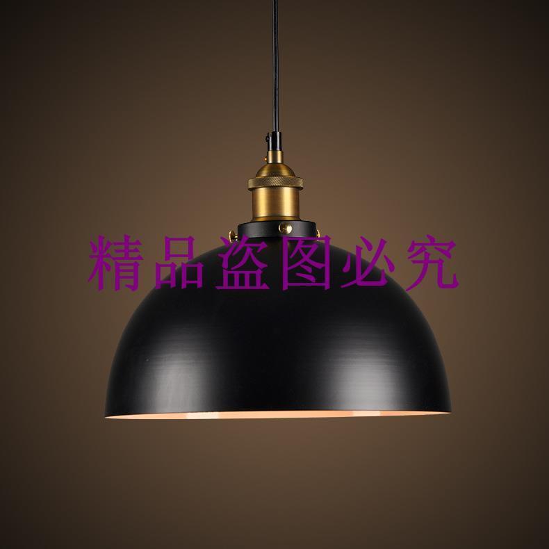 北歐復古倉庫工業餐廳鐵藝半圓形餐廳服裝辦公室單頭鍋蓋創意吊燈