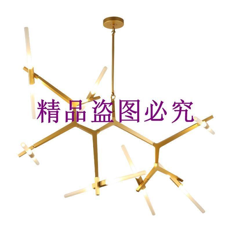 批發北歐設計師簡約吊燈后現代餐廳客廳燈具時尚人字樹杈吊燈